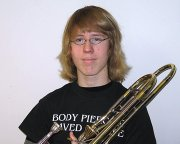 Trombonist Edwin Fluevog will show off his talents as a member of the Kansas Music Educators Association's State Festival Orchestra.