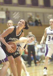 De Soto senior Jackie Goleman was on top of her game Tuesday against Baldwin. The Wildcats still couldn't pull the win out, however, falling to the Bulldogs, 57-50. De Soto plays again Friday, then Tuesday will play Tonganoxie in the first round of the sub-state tournament.