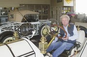 After two years of work, Dean Weller can not only sit behind the wheel of his replica 1912 Mercer Raceabout but runs the car on the road. Weller made many of the car's parts in his downtown De Soto garage.