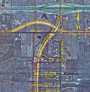 Johnson County adopted a plan in 2002 for a future arterial road from K-10 south to 151st Street on a Kill Creek Road/Homestead Road alignment. The plan would re-align the intersection of 95th Street and Kill Creek through property up for rezoning Thursday.