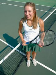 De Soto senior Hannah Konetzni dedicated herself in the off-season, giving up soccer and free time to improve her tennis game. So far, it's paid off as she's 14-2 on the season.