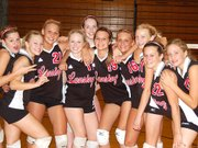 The Lansing High freshman volleyball team won the Kaw Valley League Freshman Tournament on Saturday. Team members are, from left, Casey Concannon, Heather Averill, Sara Beck, Katie Goll, Katie Delich, Sarra Garvey, Katie Jensen, Taylor Williams, Taylor Bondy and Shauna Vant-Leven.