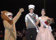 Griffin Davis and Brittany Shelton were crowned as the Lansing High homecoming king and queen for 2007.