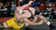Lansing High junior Tyler Strouhal placed fourth at 215 pounds on Saturday at the Eudora Tournament of Champions.