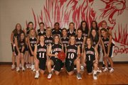 The Lansing High girls basketball team is, front row, from left, Amy Briggs, Katelyn Griffen, Kari Kelly and Abbey Lozenski; middle row, Jessica Burnett, Kiersten Kirkendoll, Kenzi 
