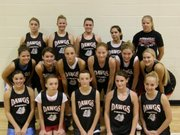 The Rossville High girls basketball team is, bottom row, from left, Shelby Cowan, Erica Davis, Courtney Brungardt, Carli Dankenbring and Jordan Glover; middle row, Stacie Cook, Taylor Fagan, Stephanie Garlock, Angelique Flinn, Tayler McCullough and Morgan Cooper; back row, Bryanna Rich, Dana Channel, Natalie Garretson, Marina Caminada and Holly Frost. Not pictured are Tanya Cooper and Kelsey Reynolds.