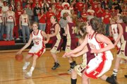 THS senior Shannon Carlin drives the right sideline in Friday's semifinals match-up against Silver Lake at THS.