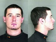 A mug shot of Jared A. Reed provided by the Leavenworth Police Department.
