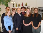Andrew Cameron, back row at far right, poses with Rudolph Giuliani, R-N.Y., front center, and other members of Creighton University's College Republicans during one of Giuliani's visits to Iowa before the state's Jan. 3 presidential caucuses. Cameron was a chauffeur for Giuliani during one of his visits and was able to drive him to two political events where Giuliani spoke.