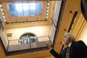 Statehouse Architect Barry Greis shows some of the Capitol renovations.