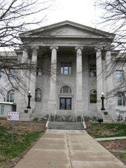 The Leavenworth County Courthouse at 300 Walnut St., Leavenworth.