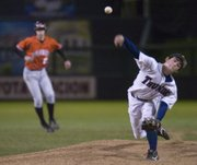St. James pitcher Jake Decelles had a shutout victory for the night Friday.