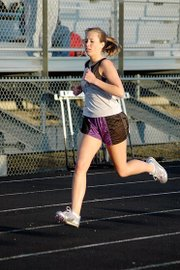 Baldwin High School freshman Shalisha Poe won her heat of the 400-meter dash Friday.