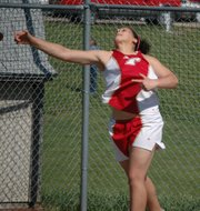 Roni Grizzle won the girls discus for the Chieftains.
