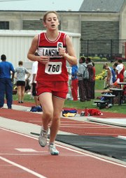 Lansing High sophomore Lauren Jaqua placed seventh in the 3,200-meter run on Friday at the Class 5A state meet.