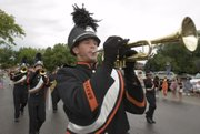 The Bonner Springs High School marching band.