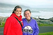 Baldwin City's Kaylin McCrary, right, and her friend Alli McDermott enjoy their trip to South Africa.