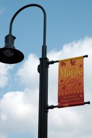 The new Maple Leaf Festival banners were hung up last week in downtown Baldwin City.