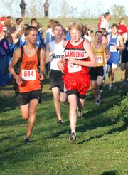 Lansing High sophomore Pete LaMoe placed seventh at the Kaw Valley League cross country championships.