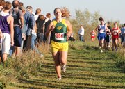 Basehor-Linwood's Kayla Peterson finished ninth at the Kaw Valley League cross country championships.