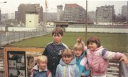 Carl Slaugh's children stand 19 years ago in Berlin where the Berlin Wall fell Nov. 9, 1989. The family stayed on vacation a bit longer to be there for the historic event.