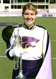 Kezia Huseman in her marching band uniform.