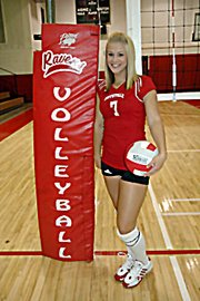 Alex Bergan played volleyball at Coffeyville Community College this fall. She was ninth in the NJCAA in assists this fall.  Bergan was preparing to coach a youth team for Baldwin Volleyball Club this winter.