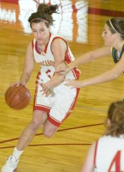 Liz Baska and the Tonganoxie High girls basketball team won 13 straight games in the 2007-2008 season.