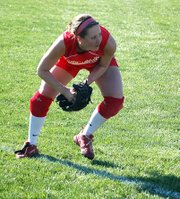 Lauren Himpel and the Tonganoxie High softball team played two extra-inning games at their 2008 regional.