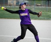 Sam Farris helped McLouth High to a third-place finish at the Class 3A state softball tournament.
