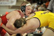 Travis Adcox was one of three Tonganoxie High wrestlers to medal at the Class 4A state tournament.