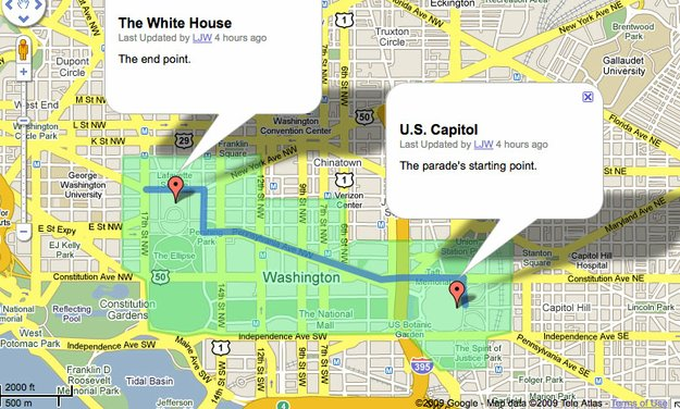 Obamas Inauguration DesotoExplorercom - White house on us map