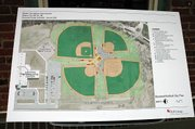 Preliminary design plans for the ball fields near the Baldwin Elementary School Intermediate Center.