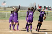 Baldwin High School's softball team defeated Wellsville 10-0 Friday at home.