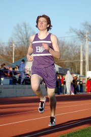 Baldwin High School sophomore Tony Weiss placed third in the 1,600-meter run and narrowly finished runner-up in the 3,200-meter run Friday.