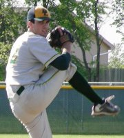 Tyler Henley was nearly untouchable as he pitched Basehor-Linwood to a 6-0 victory over Bishop Ward on May 8. The Bobcats could face a rematch with Ward in the second round of the Class 4A regional tournament.