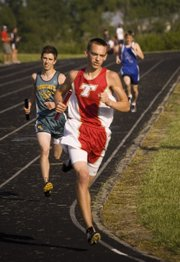 Tommy Heskett, who anchored Tonganoxie High's 4x800 relay team, also was part of the Chieftains' 4x400 relay team that qualified for state by finishing third at the Hiawatha regional on Friday.