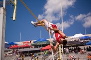 Tonganoxie sophomore Jake Willis tied a school record in the pole vault on Friday at state. Willis' vault of 13-6 at Cessna Stadium in Wichita was good enough for a fourth-place finish.