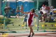 Roni Grizzle finished 12th in the girls discus at state but she won medals in the shot put and javelin events.