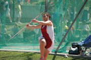 Roni Grizzle won a bronze medal in the girls javelin at state on Saturday.
