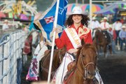 Hannah Hilsabeck, of Winterset, Iowa, was crowned queen of this year's Shrine Rodeo.