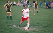 Jordan Gagne, pictured in this photo from her 2008 junior season, signed to play soccer at Butler Community College after missing her senior year with a knee injury.