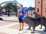 Baldwin High School junior Carson Barnes placed seventh in the Intermediate boys' decathlon at the Amateur Athletic Union Junior Olympics in Des Moines, Iowa, on Aug. 1.