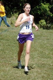 Baldwin High School senior Julie Hill helped the Bulldogs finish eighth as a team in the gold division.