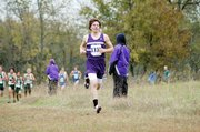 Baldwin High School junior Tony Weiss won his second straight Frontier League title on Thursday at Rim Rock Farm. Weiss helped the BHS boys' team finish third.