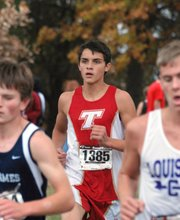Dalton Harrington was Tonganoxie High's top finisher in the boys 5K cross country regional on Saturday at Wyandotte County Park. Harrington finished 29th with a time of 18:31.