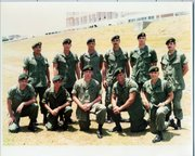 Mark Johnson (back row, second from right) is pictured with his unit in this 1985 photo, taken in Okinawa, Japan.