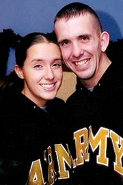 Ashley and Carl Rowland met and married while serving in the Army. Both joined in the aftermath of the 9/11 attacks.