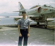 Jim Martino was assigned to the U.S.S. Hancock, a refitted World War II-era aircraft carrier that saw service in the Gulf of Tonkin off Vietnam throughout the long war.