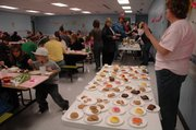 Debbie Folk's fellow teachers and PTO members at Edwardsville Elementary School recently organized a benefit dinner to help Folk through her second round of breast cancer treatments. The dinner Wednesday, Dec. 2, featured spaghetti and an array of desserts.